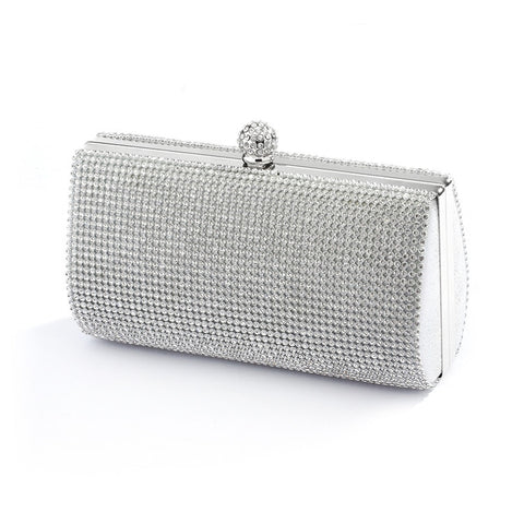 2-Sided Crystal Evening Bag Clutch Minaudiere