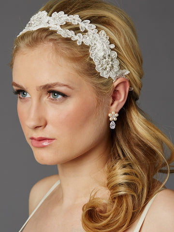 Handmade European Lace Open Vine Bridal Headband