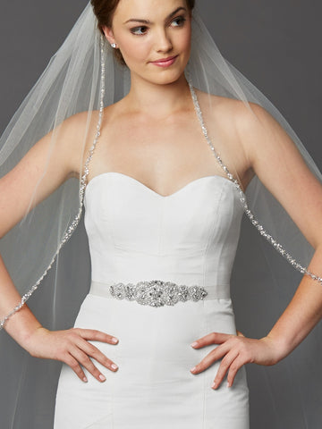 Luxurious Crystal and Pearl Applique Bridal Belts or Sash