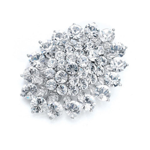 Brilliant Crystal Cluster Bridal Pin