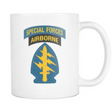 US Army Special Forces Patch White Mug