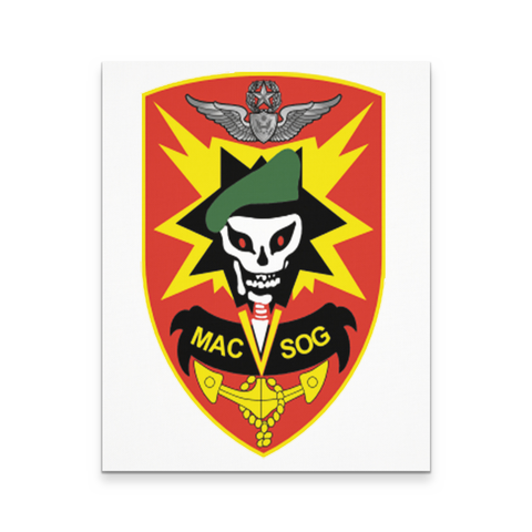 MACVSOG ON CANVAS WALL ART 16X20
