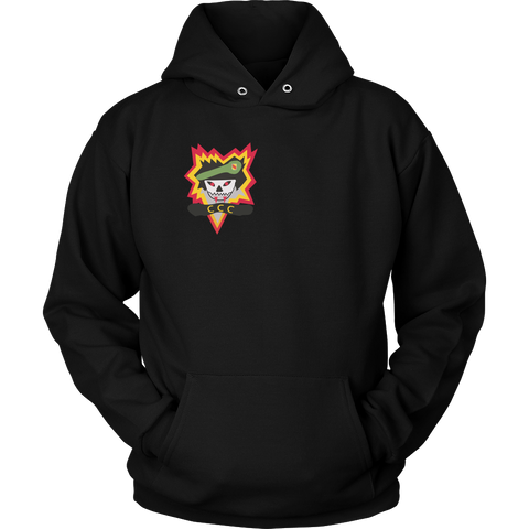 CCC Flaming Scull Black Hoodie