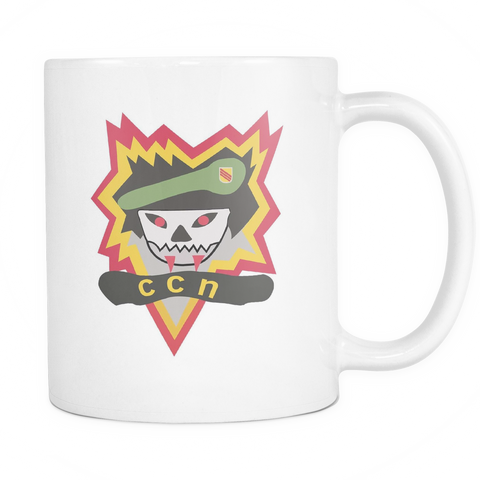 CCN Flaming Scull White Mug