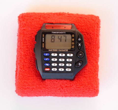 TIMEBANDITS Retro Digital Calculator Watch DCAL06BK