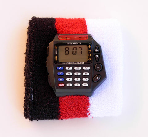 TIMEBANDITS Retro Digital Calculator Watch DCAL16BK