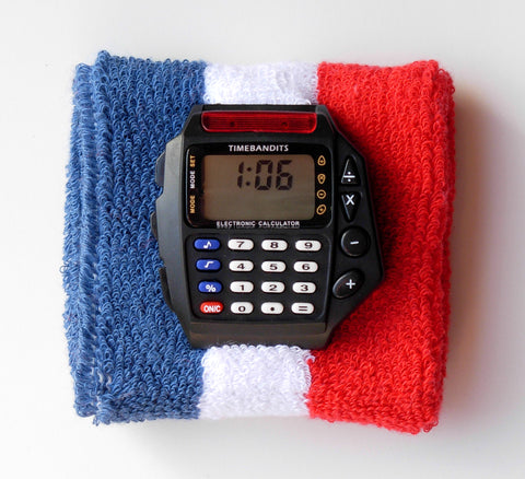 TIMEBANDITS Retro Digital Calculator Watch DCAL17BK