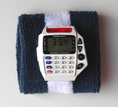 TIMEBANDITS Retro Digital Calculator Watch DCAL18W