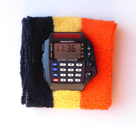 TIMEBANDITS Retro Digital Calculator Watch DCAL20BK