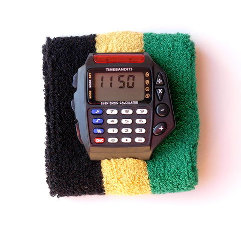 TIMEBANDITS Retro Digital Calculator Watch DCAL21BK