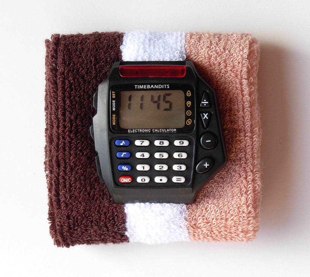 TIMEBANDITS Retro Digital Calculator Watch DCAL26BK