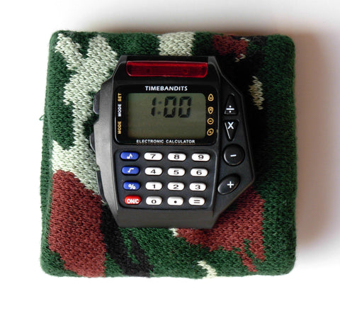 TIMEBANDITS Retro Digital Calculator Watch DCAL28BK