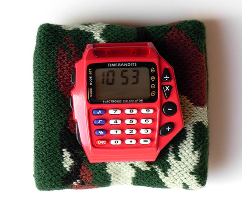 TIMEBANDITS Retro Digital Calculator Watch DCAL28R