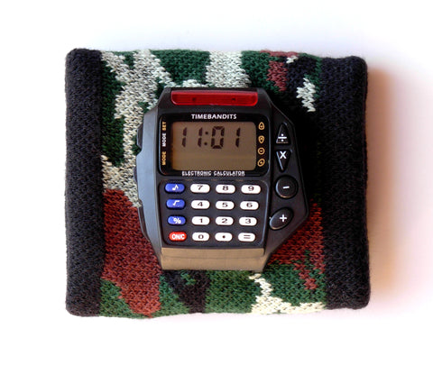 TIMEBANDITS Retro Digital Calculator Watch DCAL30BK