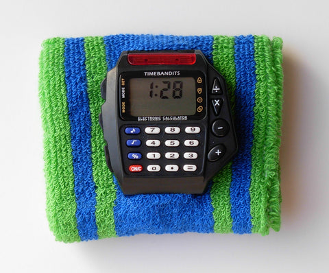 TIMEBANDITS Retro Digital Calculator Watch DCAL34BK