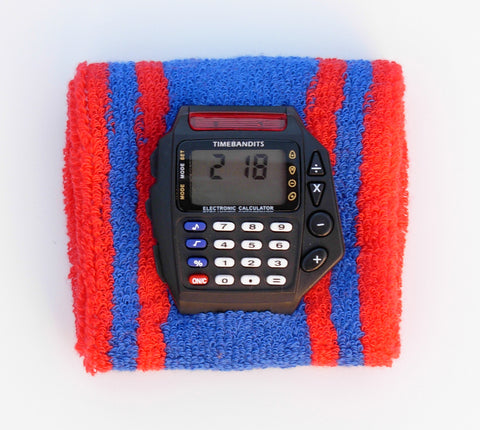 TIMEBANDITS Retro Digital Calculator Watch DCAL35BK