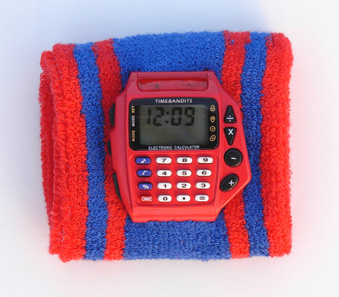 TIMEBANDITS Retro Digital Calculator Watch DCAL35R