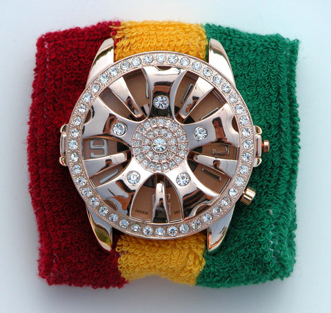 TIMEBANDITS Spinner Watch - Seen On Snoop Dogg at Live 8 / Mtv