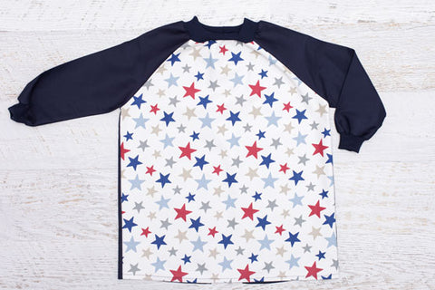 Blue Stars Toddler Art Smock