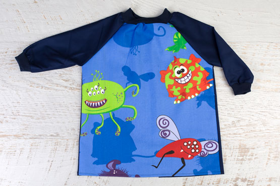 Creepy Critters Navy Kids Paint Smock