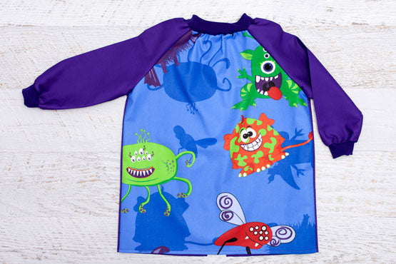 Creepy Critters Purple Kids Craft Smock