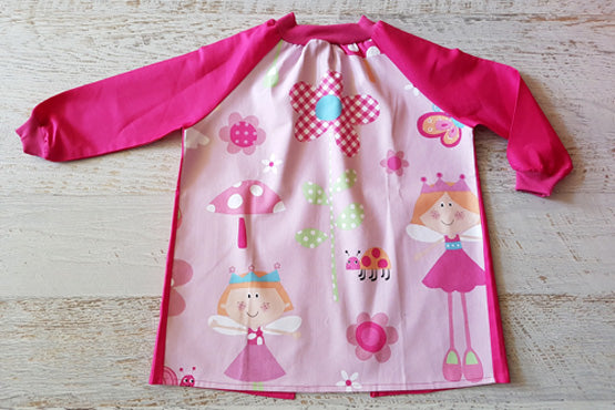 Fairy Princess girls art smock