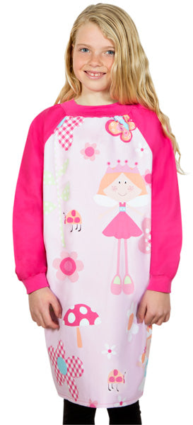 Girl wearing Fairy Princess art smock