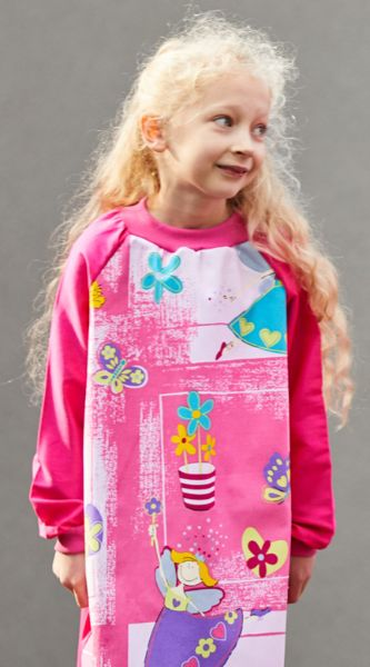 Young Girl wearing Funky Fairy Art Smock