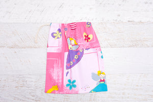Drawstring bag with bright and funky fairies