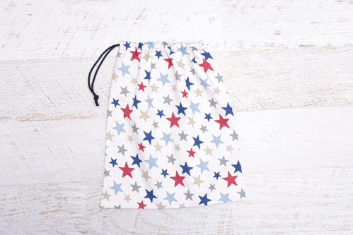 Blue stars library bag