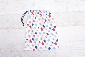 Library bag-blue stars