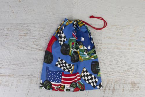 Racing cars library bag