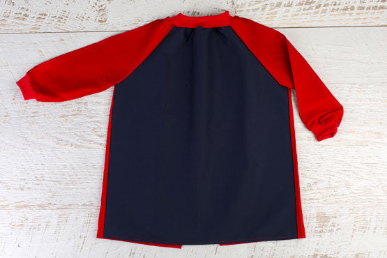 Large Navy & Red Art Smock