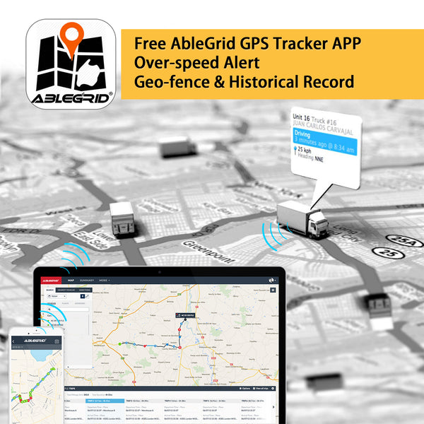 Ablegrid® 4G LTE GPS Tracker, Real-Time GPS Tracking Device