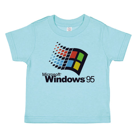 WINDOWS 95 KIDS TEE SHIRT | AQUA