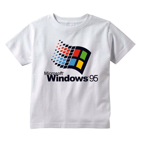 WINDOWS 95 KIDS TEE SHIRT | WHITE