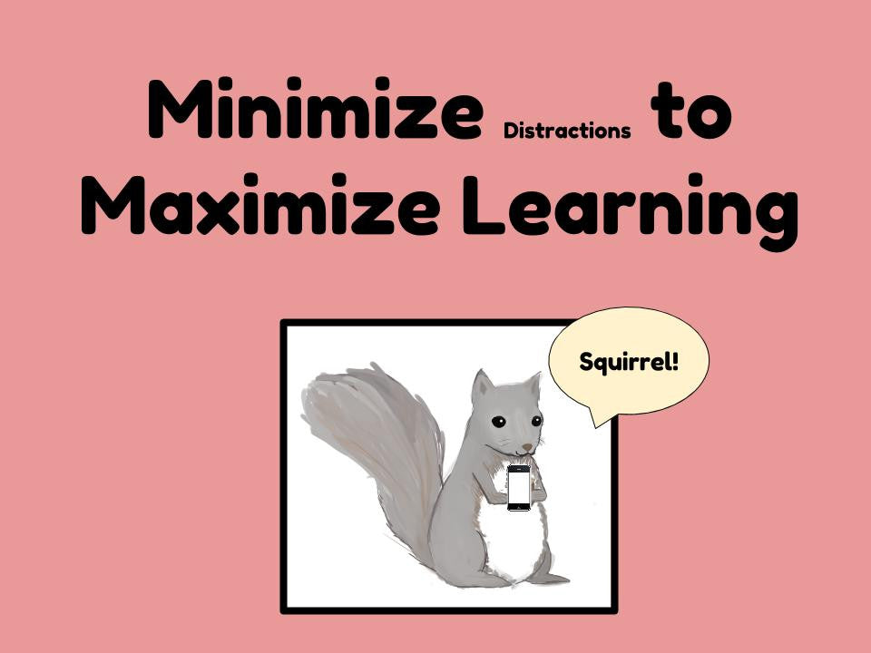 Minimize Distractions to Maximize Learning