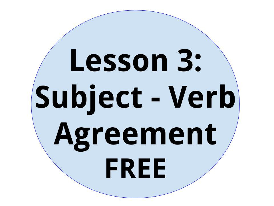 Free Lesson 3 Subject Verb Agreement Test Prep Spot