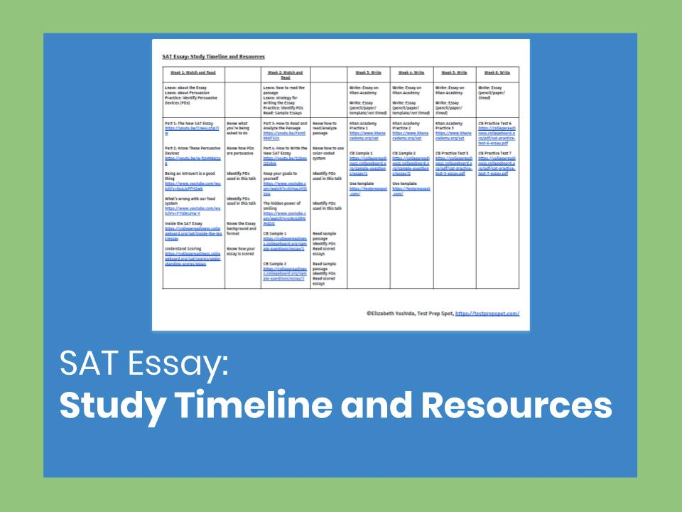 SAT Essay: Study Timeline and Resources