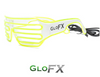 White with LIme Light Up Shutter Shades *Sound Activated*