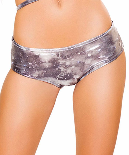 Metallic Black Galaxy Light-Up Shorts
