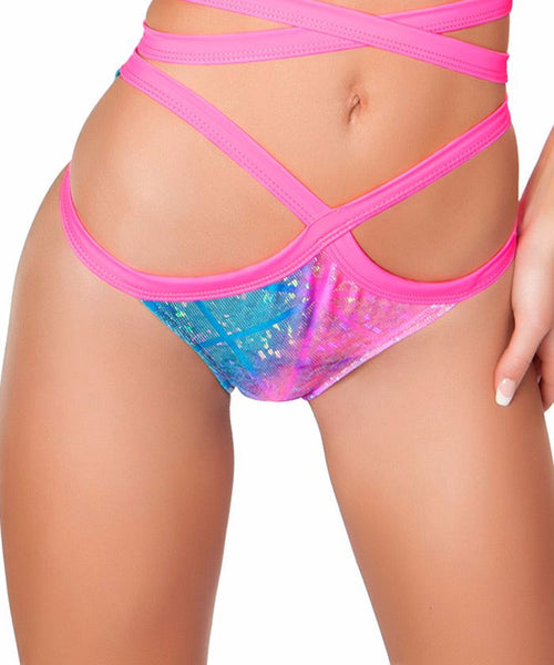 Diamond Hologram Wrap Shorts