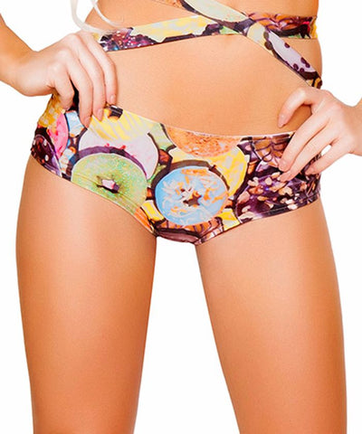 Doughnut Print Light-Up Shorts