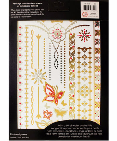Springtime Dreams Metallic Tattoos (2 Sheets)
