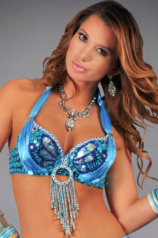 Sequin Butterfly Bra