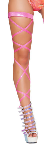 Shimmer Leg Wraps with Attached Garter