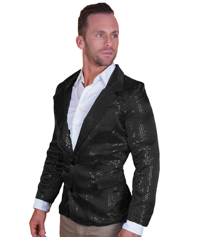 Black Sequin Disco Jacket