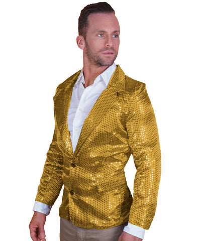 Gold Sequin Disco Jacket
