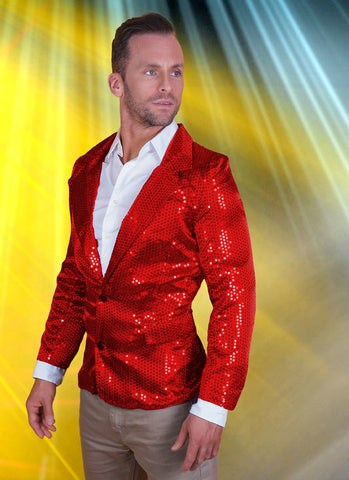 Red Sequin Disco Jacket