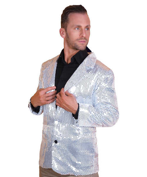 Silver Sequin Disco Jacket
